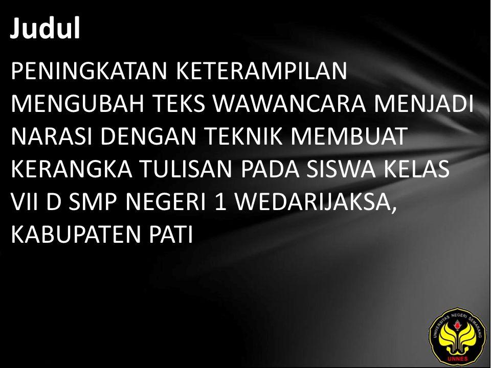 Abstrak Yunitasari, Dewi.2010.