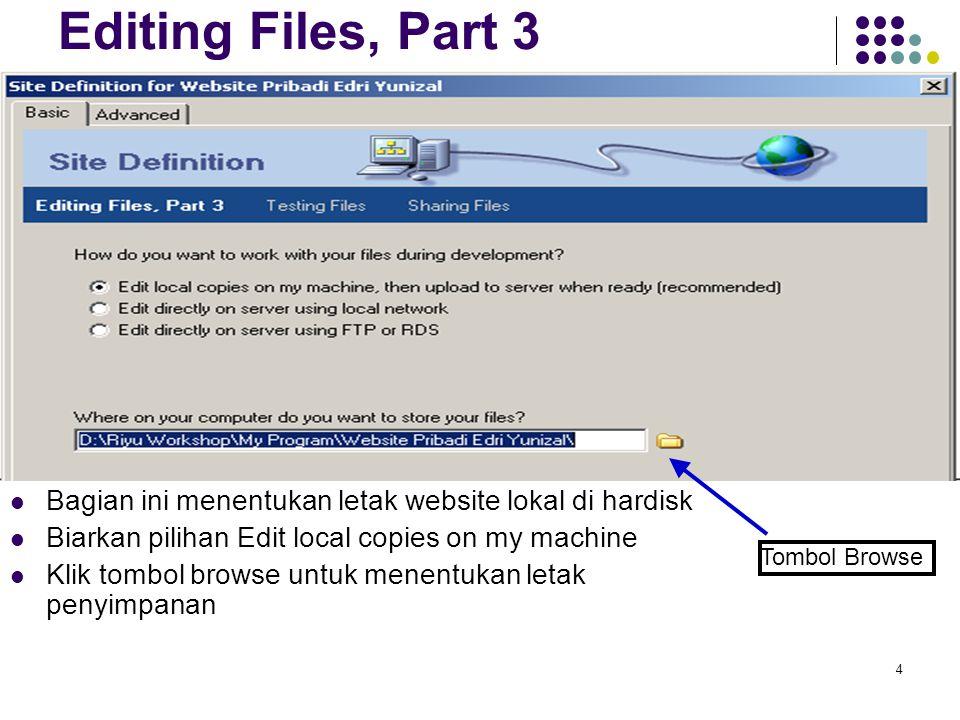 5 Lokasi penyimpanan Aktifkan drive D sebagai tempat penyimpanan Click tombol create new folder untuk membuat direktori baru Beri nama folder baru tersebut dengan nama website nama_anda Masuk ke web tersebut dan click tombol Select Click tombol Next >
