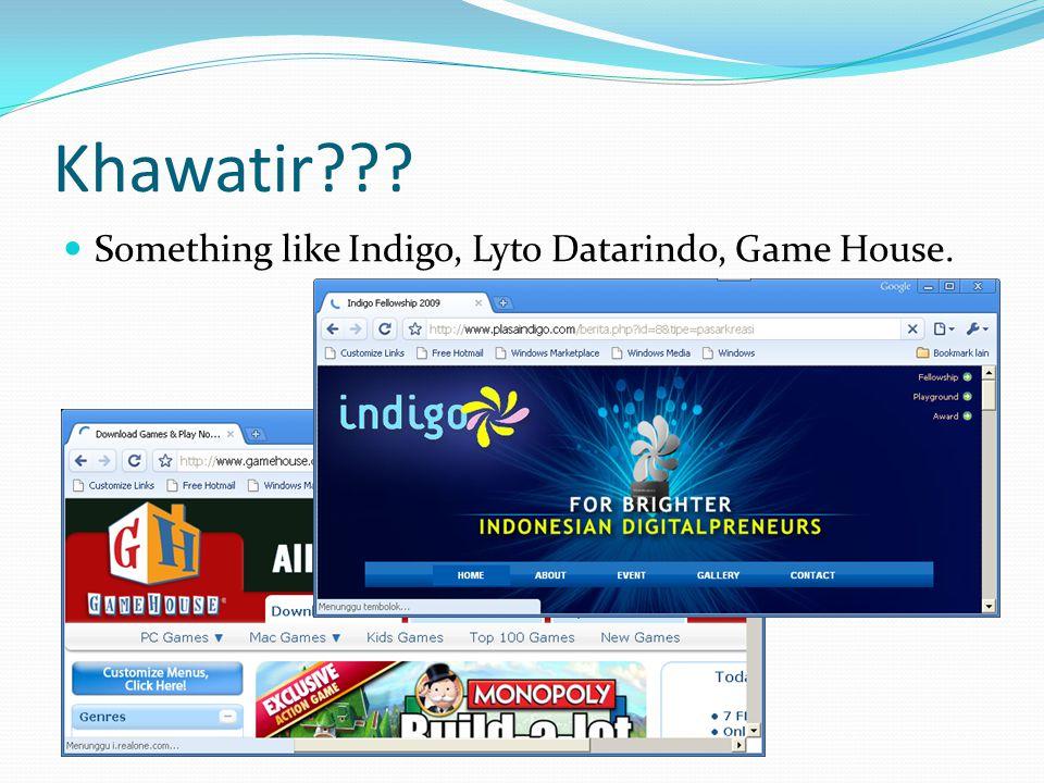 Khawatir??? Something like Indigo, Lyto Datarindo, Game House.