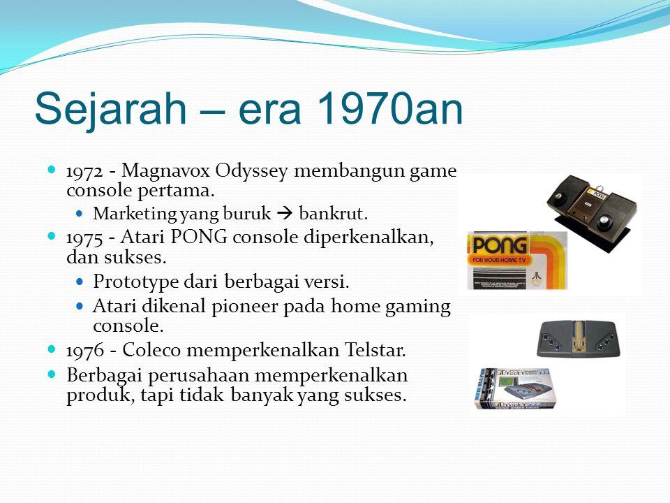 Sejarah – era 1970an 1972 - Magnavox Odyssey membangun game console pertama.