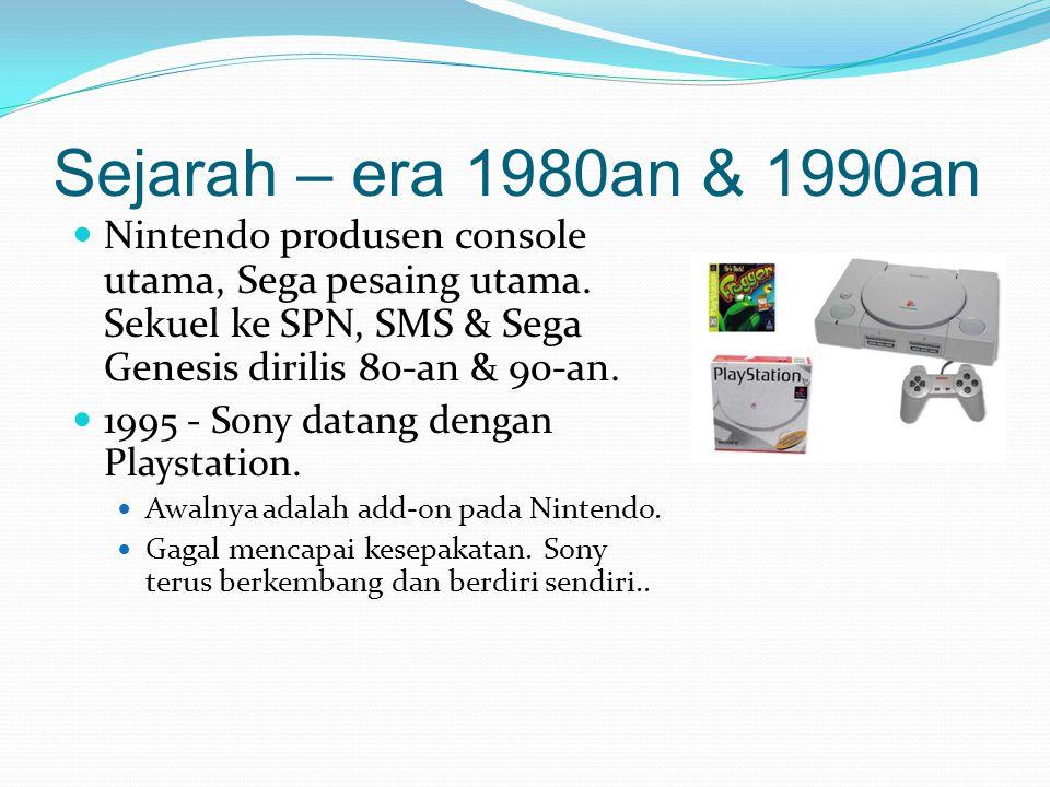 Sejarah - 2000 hingga sekarang 2001 - Microsoft bergabung kompetisi dan mengeluarkan Xbox.