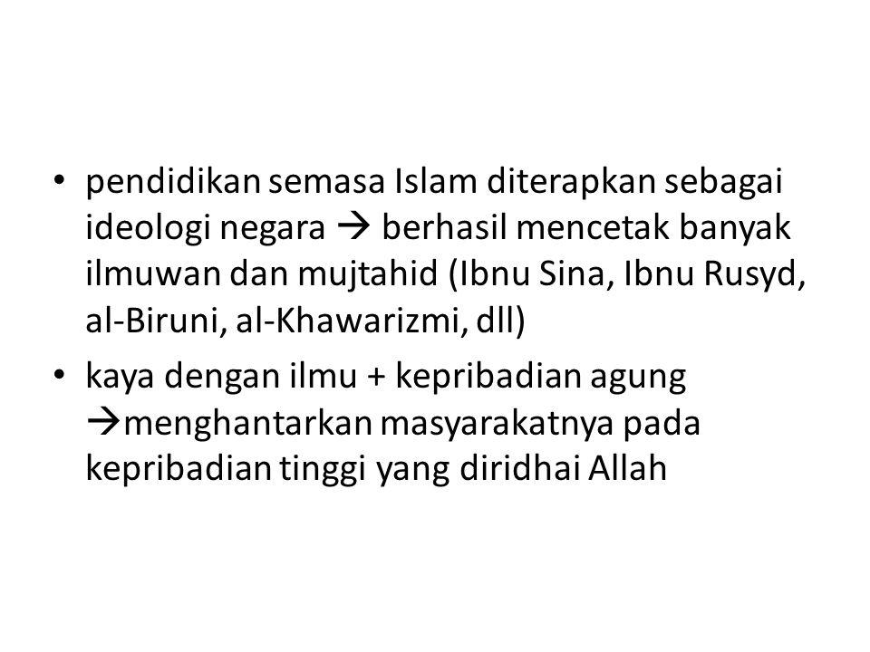 Pendidikan Islam : Bebas Biaya Menuntut ilmu wajib bagi setiap Muslim .