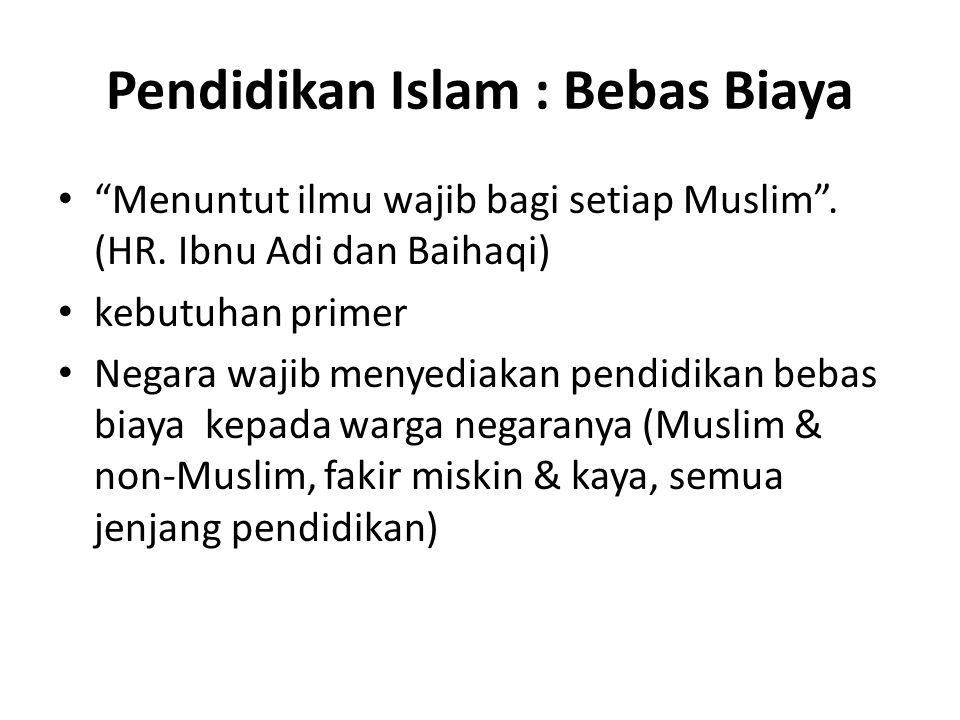 Warga Negara non-Muslim dilarang mengadakan pengajaran agama mereka terhadap warga Negara yang Muslim atau menerima murid-murid Muslim di sekolah- sekolah mereka.