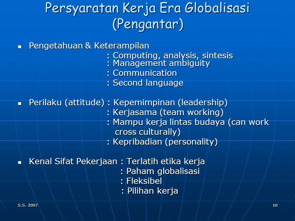 S.S. 20079 Pengantar (Latar Belakang) Indikator Keberhasilan visi Indonesia 2020  Penghormatan thp martabat kemanusiaan  Meningkatnya: semangat pers
