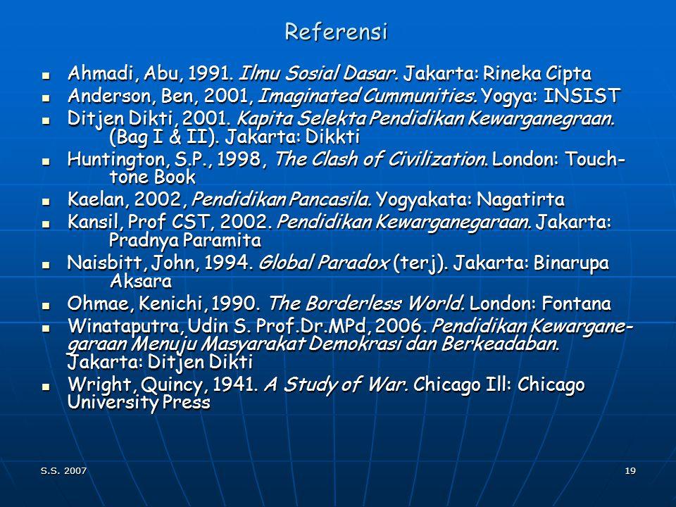 S.S. 200718 Urutan Pembahasan Pengantar Pengantar Filsafat Pancasila Filsafat Pancasila Identitas Nasional Identitas Nasional Negara dan Konstitusi Ne