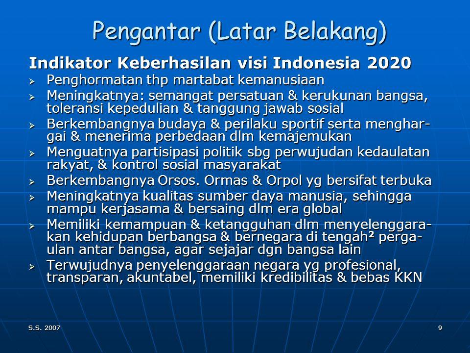 S.S. 20078 Latar Belakang (Pengantar) Revolusi 3 T (Transport,Telekomunikasi,Trade) Revolusi 3 T (Transport,Telekomunikasi,Trade)  manusia kosmopolit