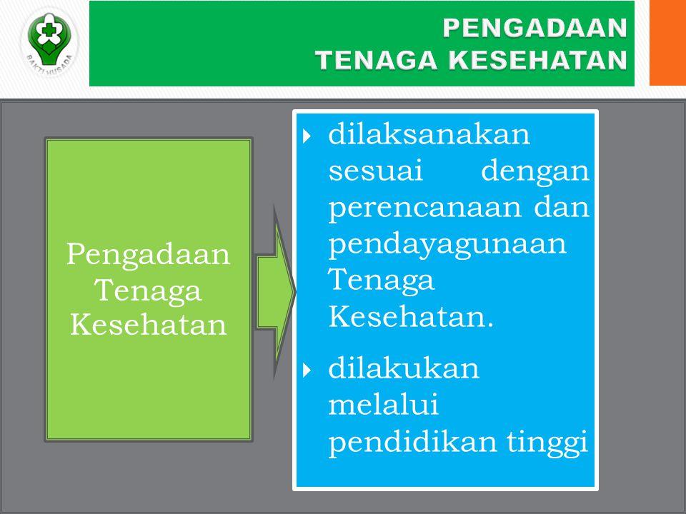  dilaksanakan sesuai dengan perencanaan dan pendayagunaan Tenaga Kesehatan.