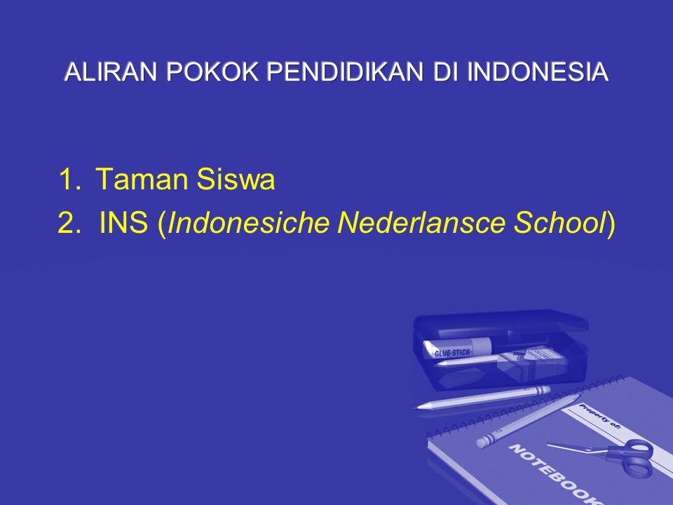 1.Taman Siswa 2. INS (Indonesiche Nederlansce School)