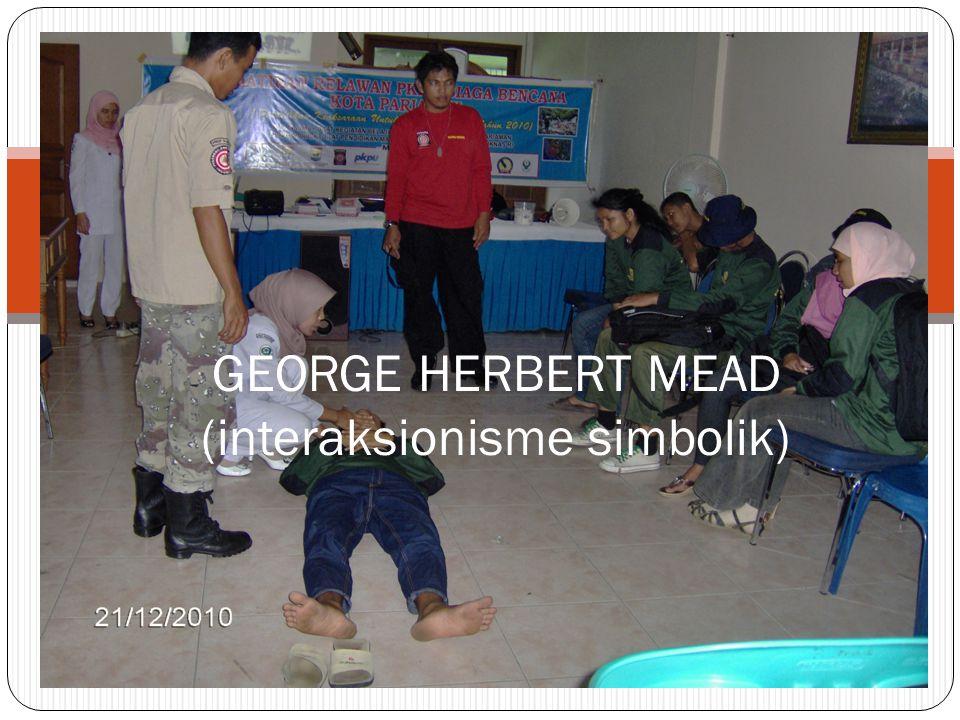 GEORGE HERBERT MEAD (interaksionisme simbolik)