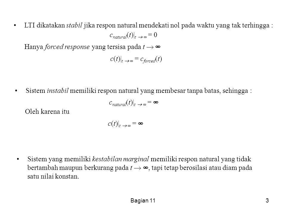 Bagian 114 6.2 Bagaimana cara mengetahui apakah suatu sistem stabil .