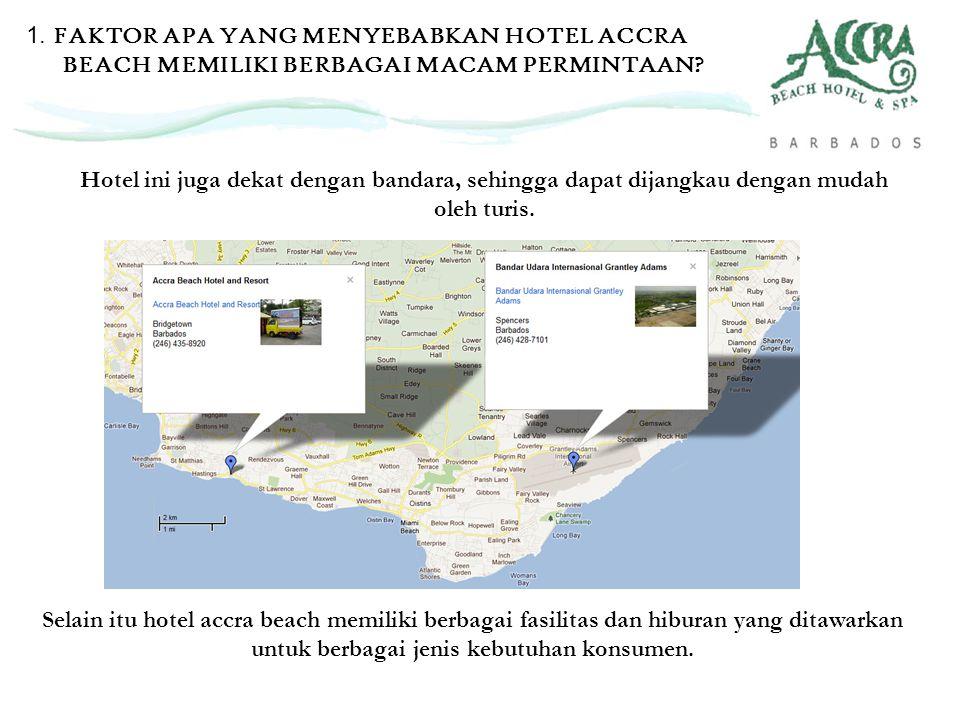 Hotel ini juga dekat dengan bandara, sehingga dapat dijangkau dengan mudah oleh turis. Selain itu hotel accra beach memiliki berbagai fasilitas dan hi