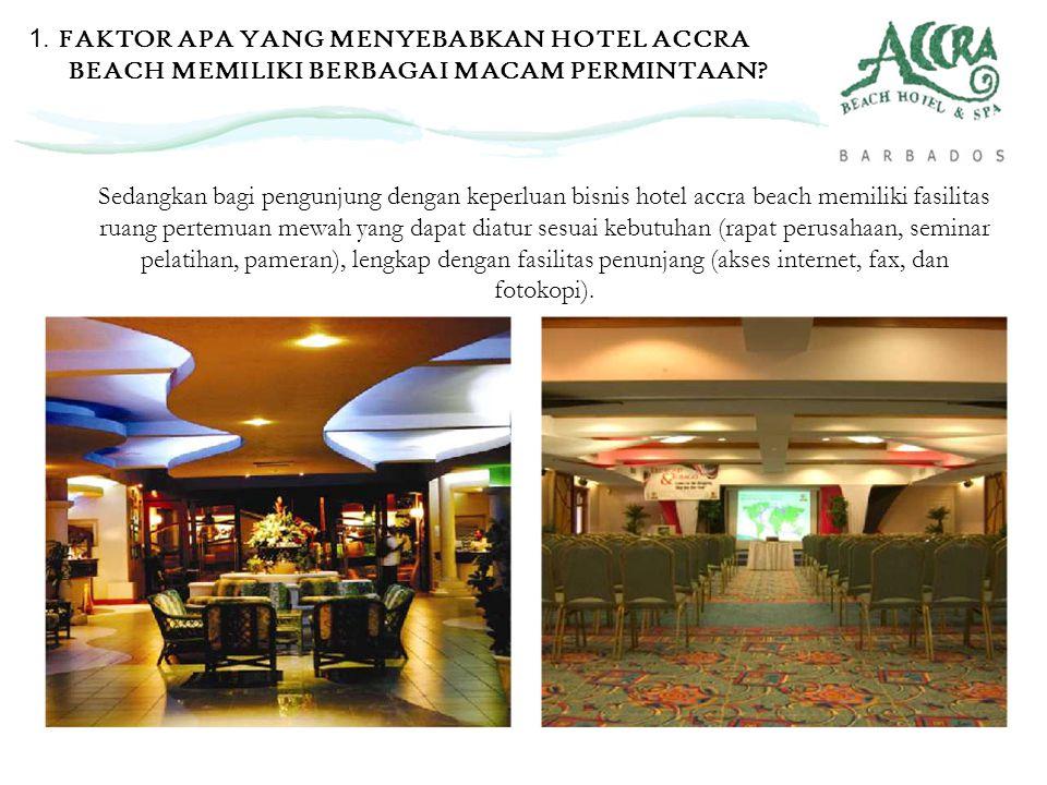 Sedangkan bagi pengunjung dengan keperluan bisnis hotel accra beach memiliki fasilitas ruang pertemuan mewah yang dapat diatur sesuai kebutuhan (rapat