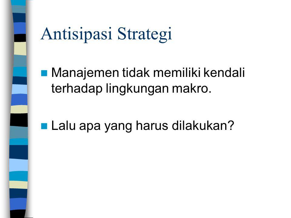 Antisipasi Strategi Manajemen tidak memiliki kendali terhadap lingkungan makro.