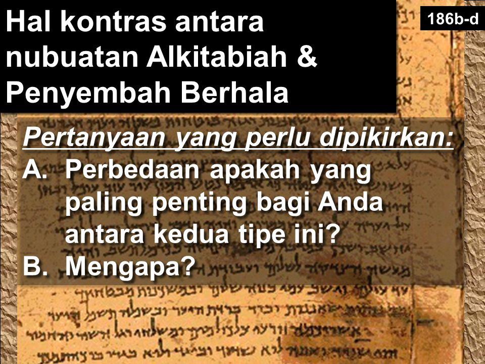 186b-d Pertanyaan yang perlu dipikirkan: A.Perbedaan apakah yang paling penting bagi Anda antara kedua tipe ini? B.Mengapa? Pertanyaan yang perlu dipi