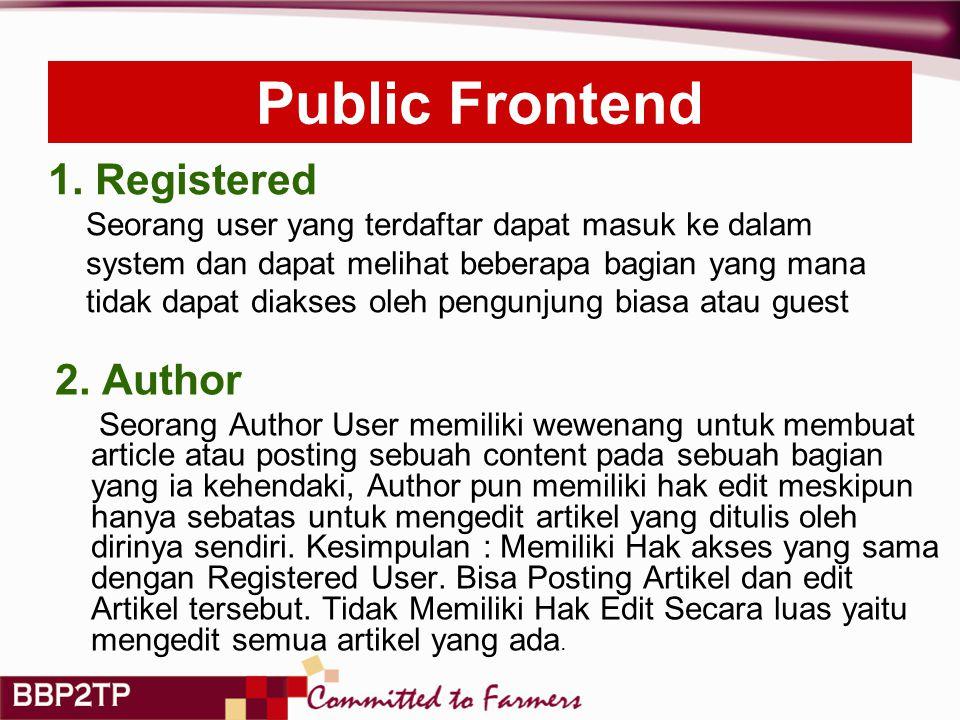 Public Frontend 2.