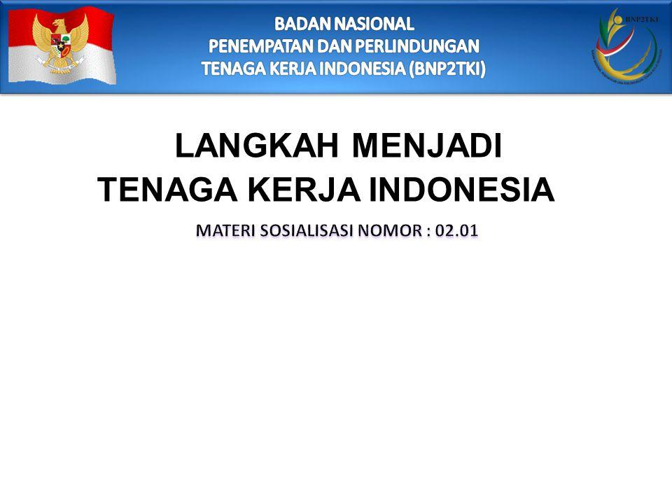LANGKAH MENJADI TENAGA KERJA INDONESIA