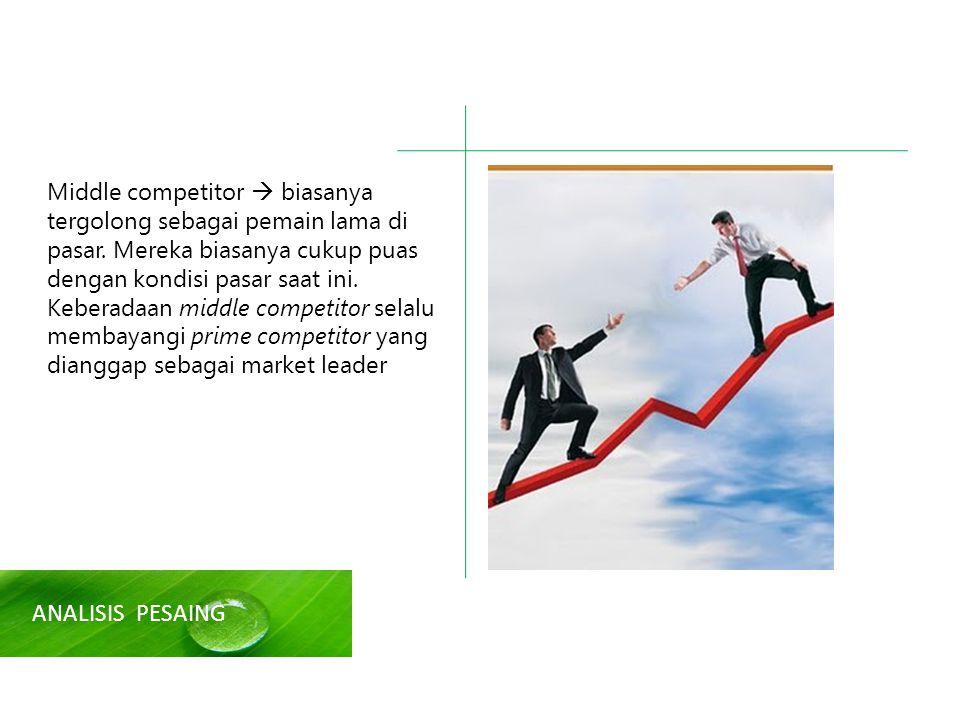 Middle competitor  biasanya tergolong sebagai pemain lama di pasar.