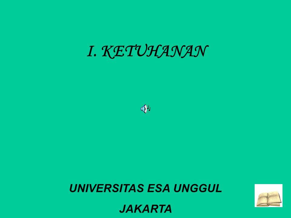 I. KETUHANAN UNIVERSITAS ESA UNGGUL JAKARTA