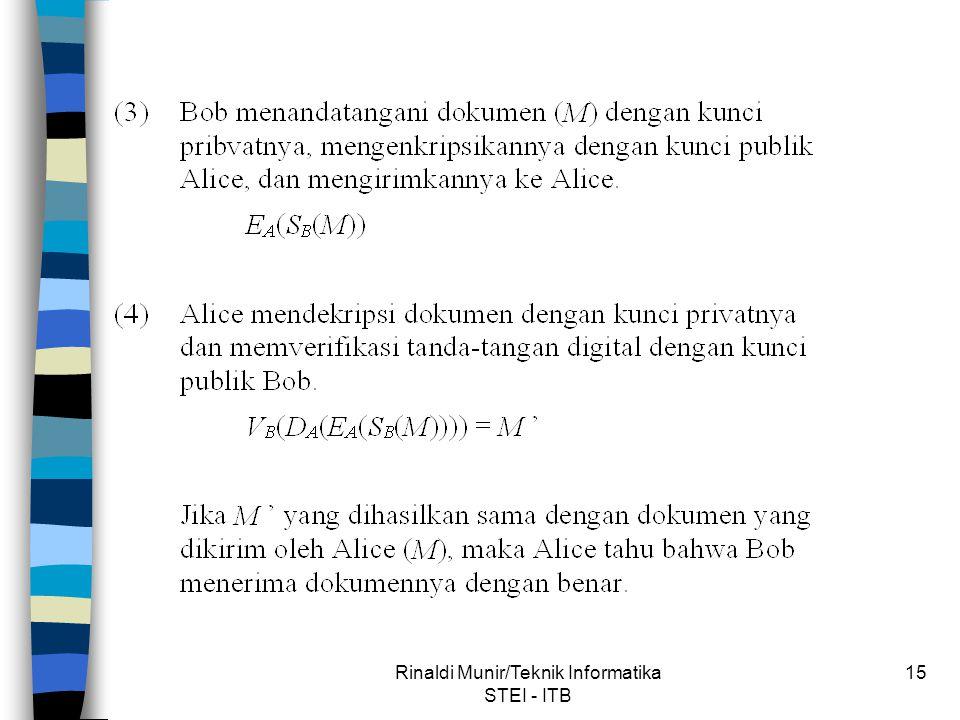 Rinaldi Munir/Teknik Informatika STEI - ITB 15