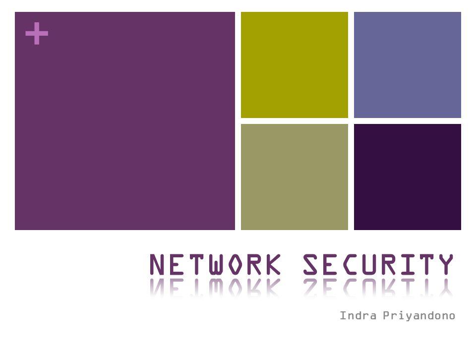 + Denial of Service Tujuan: Membuat layanan jaringan tidak dapat digunakan, biasanya dengan melakukan overloading server atau jaringan Berbagai jenis serangan DoS SYN flooding SMURF Distributed attacks