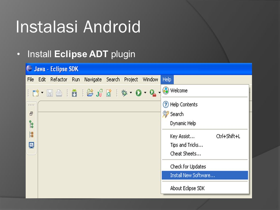 Instalasi Android Install Eclipse ADT plugin