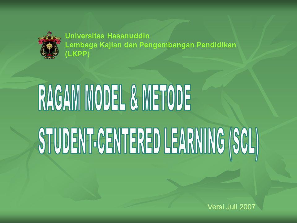 Universitas Hasanuddin Lembaga Kajian dan Pengembangan Pendidikan (LKPP) Versi Juli 2007