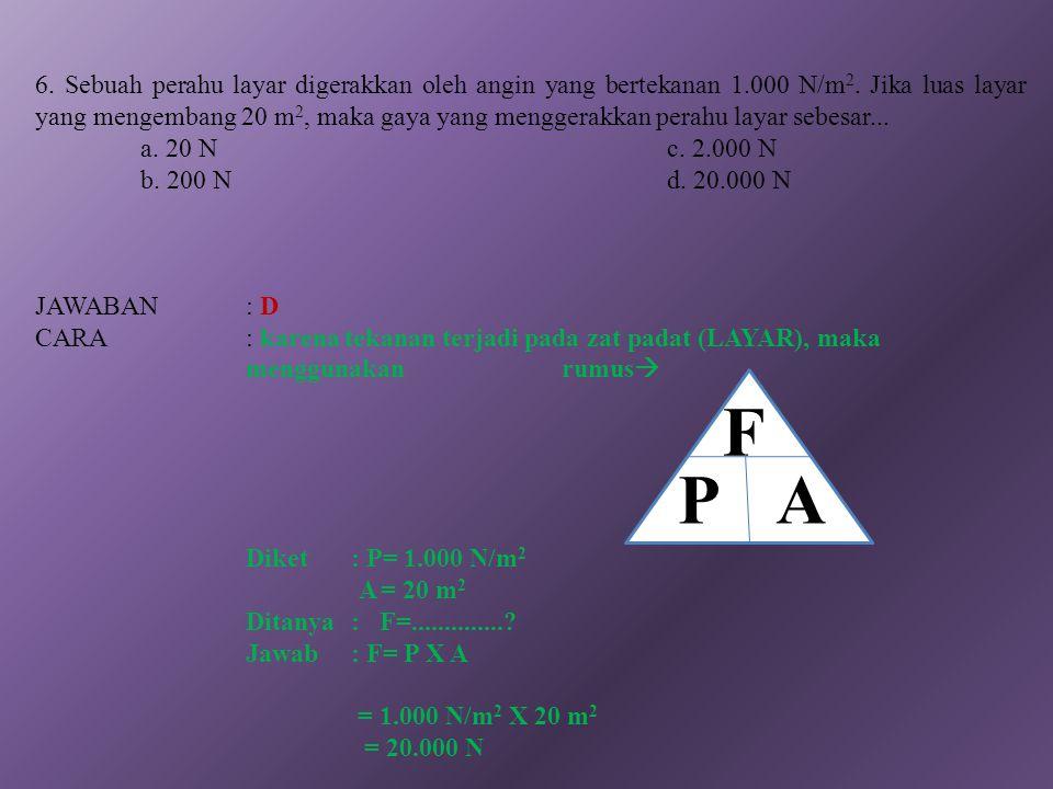 PA F P = ρ. g. h Tekanan Pada Zat Padat Tekanan Hidrostatis