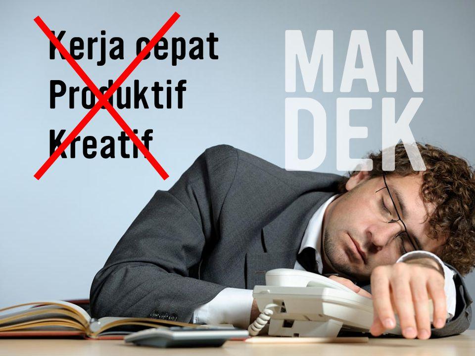 Produktif Kreatif Kerja cepat MAN DEK