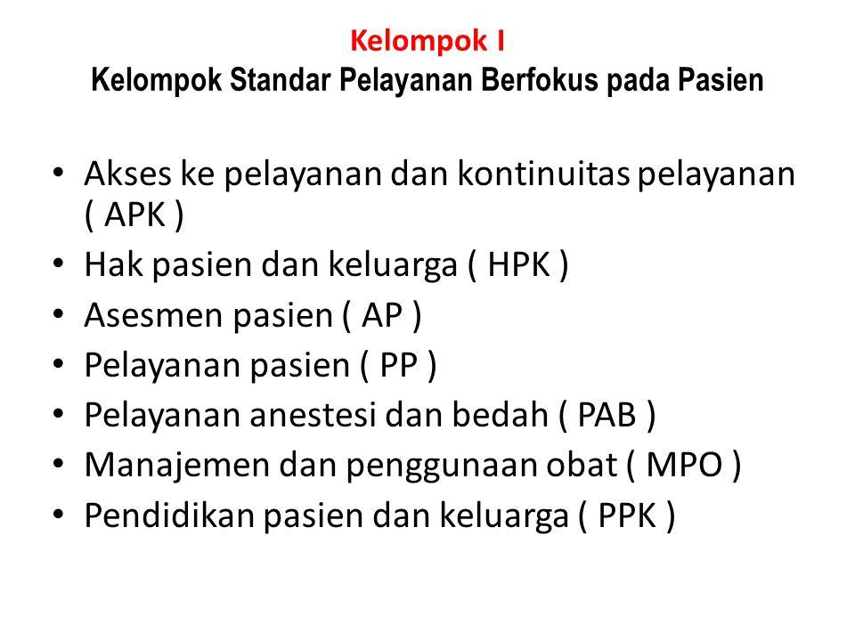 Standar PPK.2 Dilakukan asesmen kebutuhan pendidikan masing-masing pasien dan dicatat di rekam medisnya.
