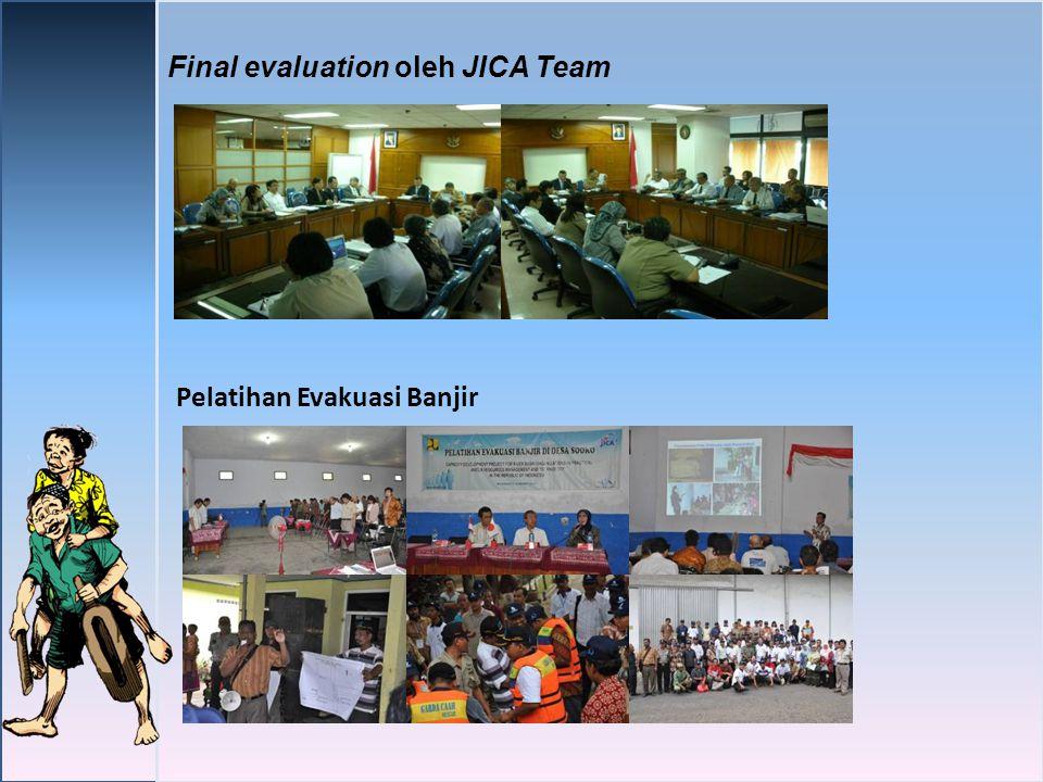 Final evaluation oleh JICA Team Pelatihan Evakuasi Banjir
