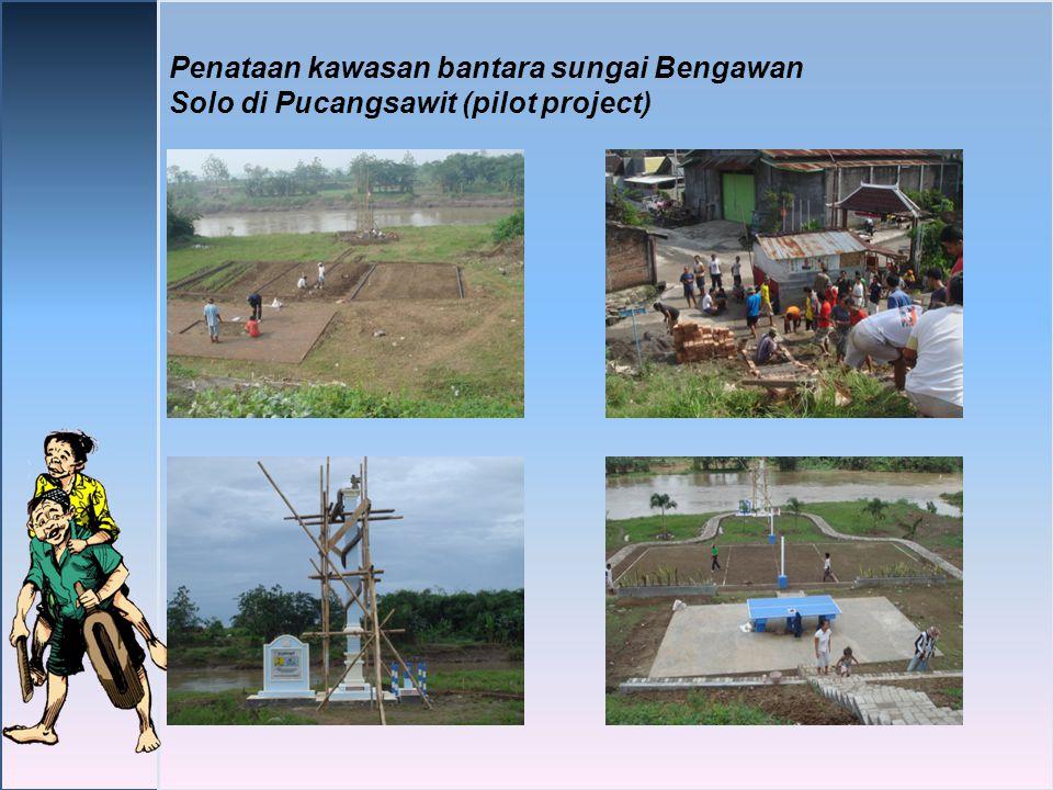 Penataan kawasan bantara sungai Bengawan Solo di Pucangsawit (pilot project)