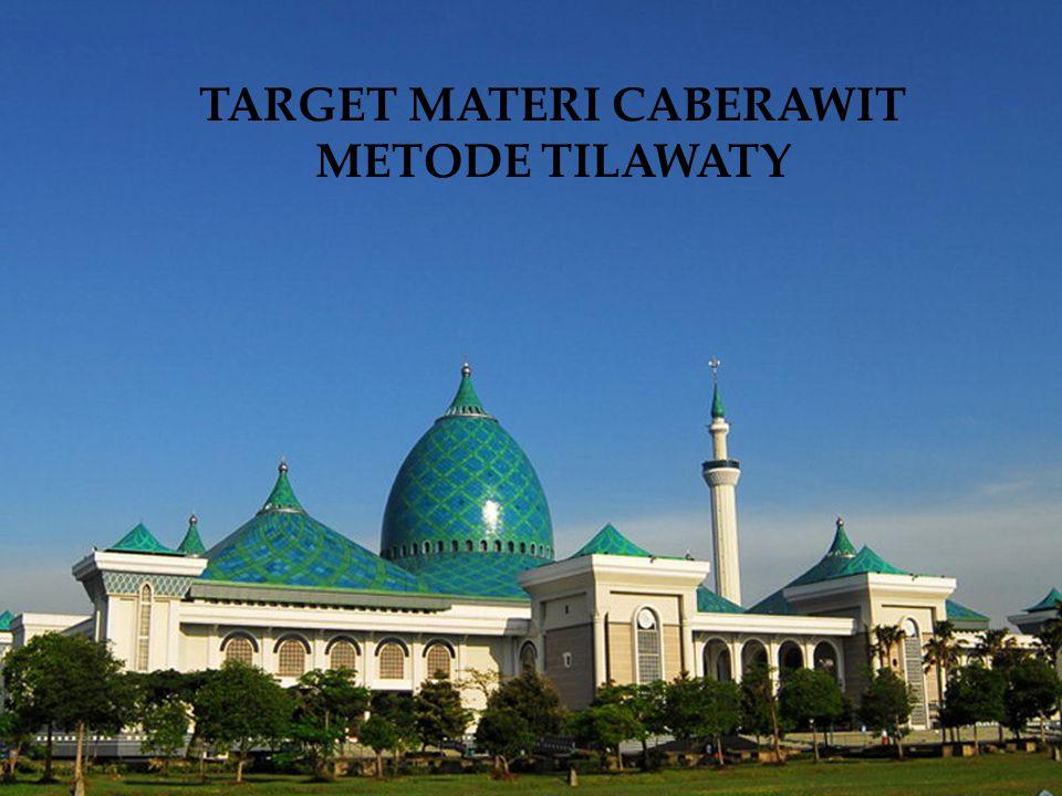 Target Materi Caberawit Surabaya Selatan 6.Memberi makna ayat-ayat tertentu (guru memberi contoh) 7.