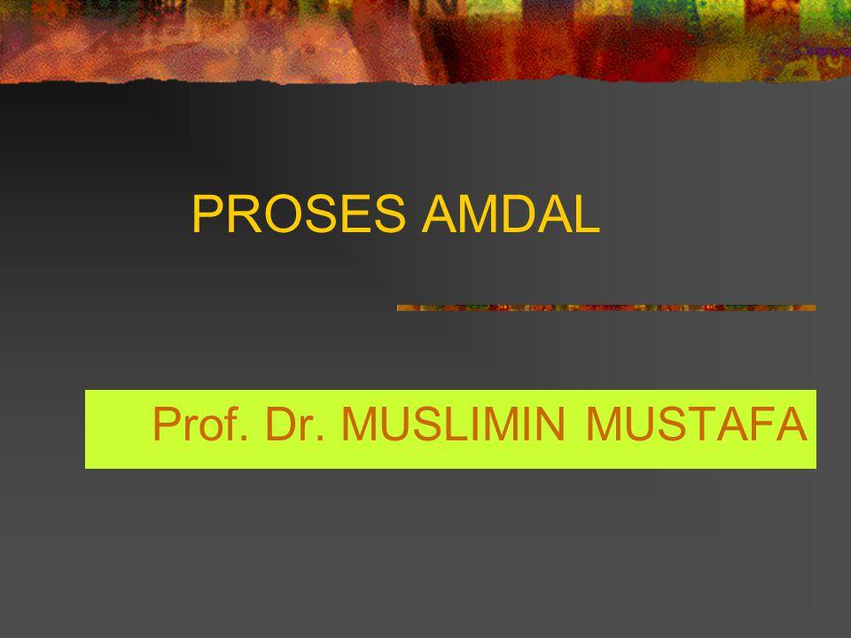 PROSES AMDAL Prof. Dr. MUSLIMIN MUSTAFA