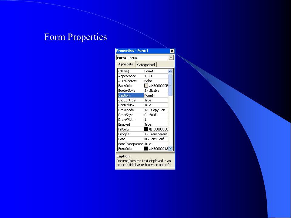 Form Properties