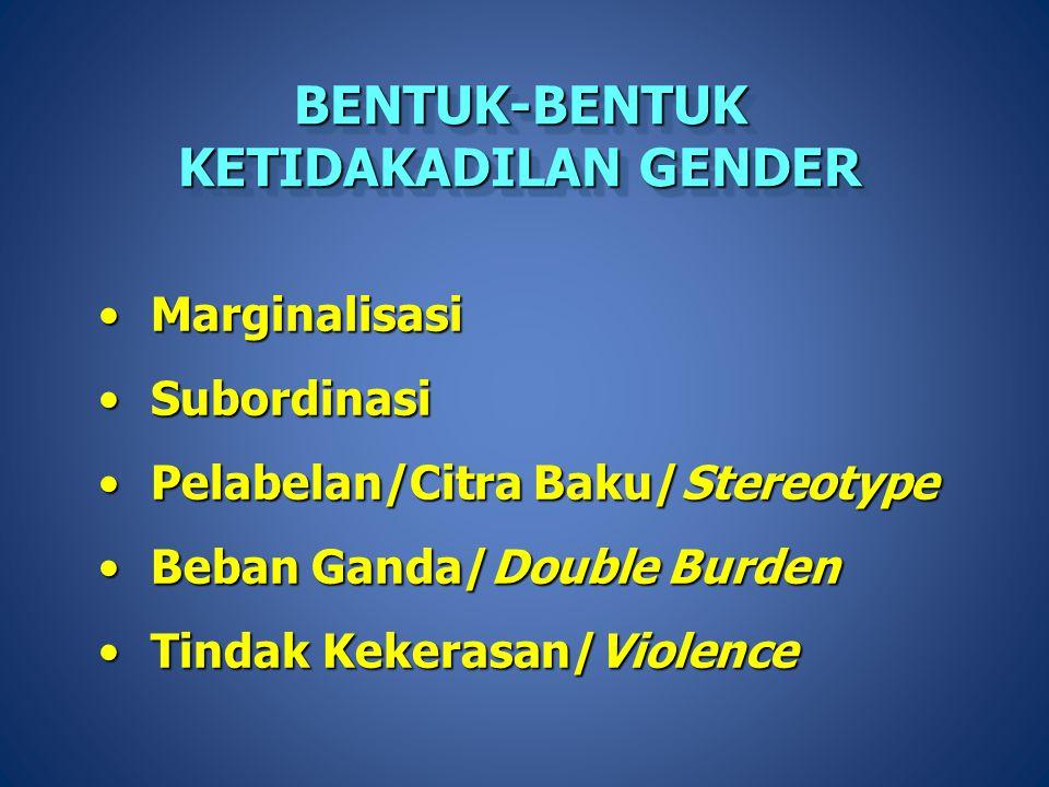 Keberhasilan pembangunan nasional di Indonesia, baik oleh pemerintah, swasta maupun masyarakat sangat tergantung dari peran serta laki-laki dan perempuan sebagai pelaku dan pemanfaat pembangunan Hingga saat ini peran perempuan belum dioptimalkan, oleh karena itu program pemberdayaan perempuan menjadi agenda bangsa dan memerlukan dukungan semua pihak