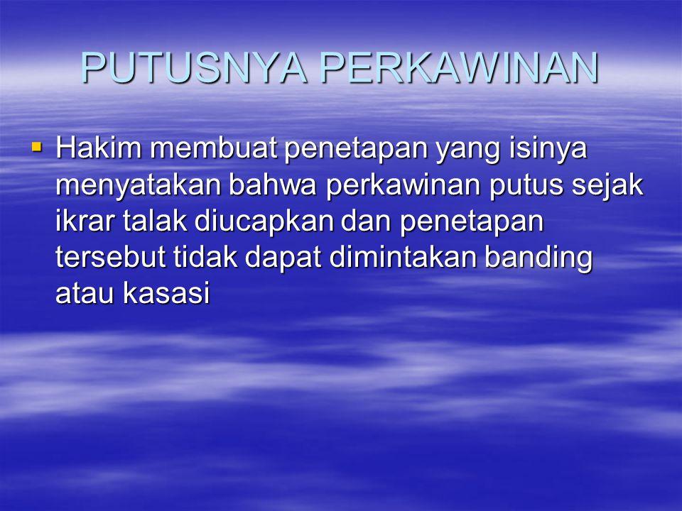 CERAI GUGAT  Diajukan ke PA di wilayah kediaman Penggugat  Apabila Penggugat tinggal di luar negeri, gugatan diajukan ke PA di wilayah kediaman Tergugat  Apabila Penggugat dan Tergugat tinggal di LN, gugatan diajukan ke PA di wilayah tempat mereka menikah atau ke PA Jakarta Pusat