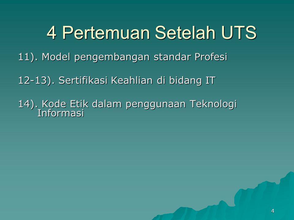 4 Pertemuan Setelah UTS 11).Model pengembangan standar Profesi 12-13).