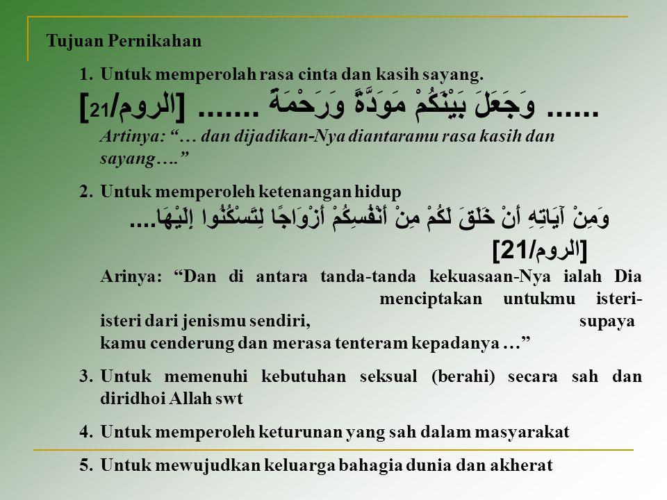 Sahnya Pernikahan Dalam pasal 4 dari Kompilasi Hukum Islam pernikahan sah jika dilakukan menurut hukum islam sesuai dengan pasal 2 ayat (1) undang-undang RI no.