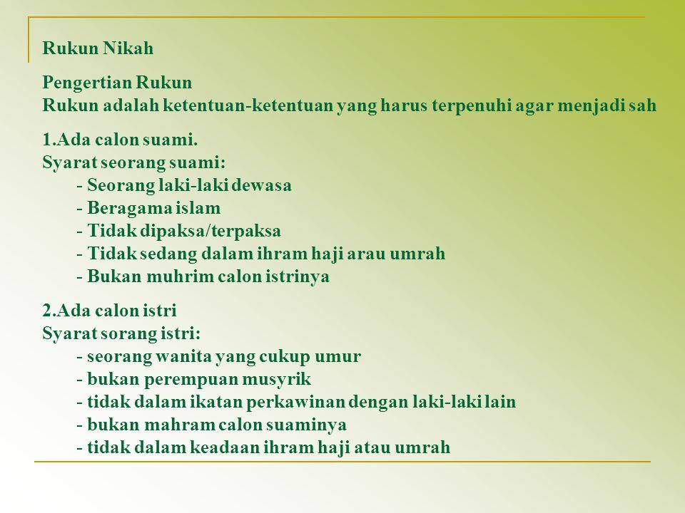 Akta Nikah Dalam pasal 7 ayat (1) dari Kompilsai Hukum Islam di bidang hukum pernikahan dijelaskan bahwa pernikahan hanya bisa dibuktikan dengan Akta nikah yang dikeluarkan oleh Pegawai Pencatat Nikah.