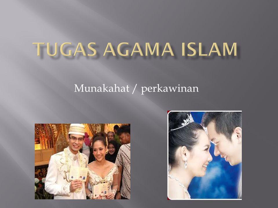 Munakahat / perkawinan