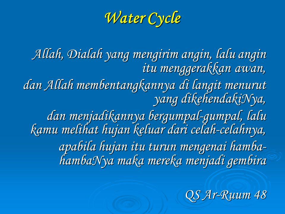 Pemanfaatan Air Indonesia (Kondisi tahun 2000, sumber: Bakosurtanal, 2001)  Pemanfaatan air: Pertanian (irigasi) Pertanian (irigasi) Domestik (pemenuhan kebutuhan rumahtangga) Domestik (pemenuhan kebutuhan rumahtangga) Industri Industri a) Pertanian: total pemanfaatan air untuk irigasi mencapai 92.76 milyar m3, dengan luas areal irigasi mencapai 4.2 juta ha b) Domestik: total pemanfataan air mencapai 13.19 milyar m3; dengan pemanfaatan: 74% rumahtangga menggunakan air tanah 74% rumahtangga menggunakan air tanah 21.2% rumahtangga menggunakan air PDAM 21.2% rumahtangga menggunakan air PDAM 3.4% rumahtangga menggunakan air sungai 3.4% rumahtangga menggunakan air sungai 1.4% sumber lainnya 1.4% sumber lainnya c) Industri: kebutuhan air industri mencapai 4.06 milyar m3; sebagian besar berasal dari air tanah, sehingga menimbulkan dampak negatif yang cukup signifikan