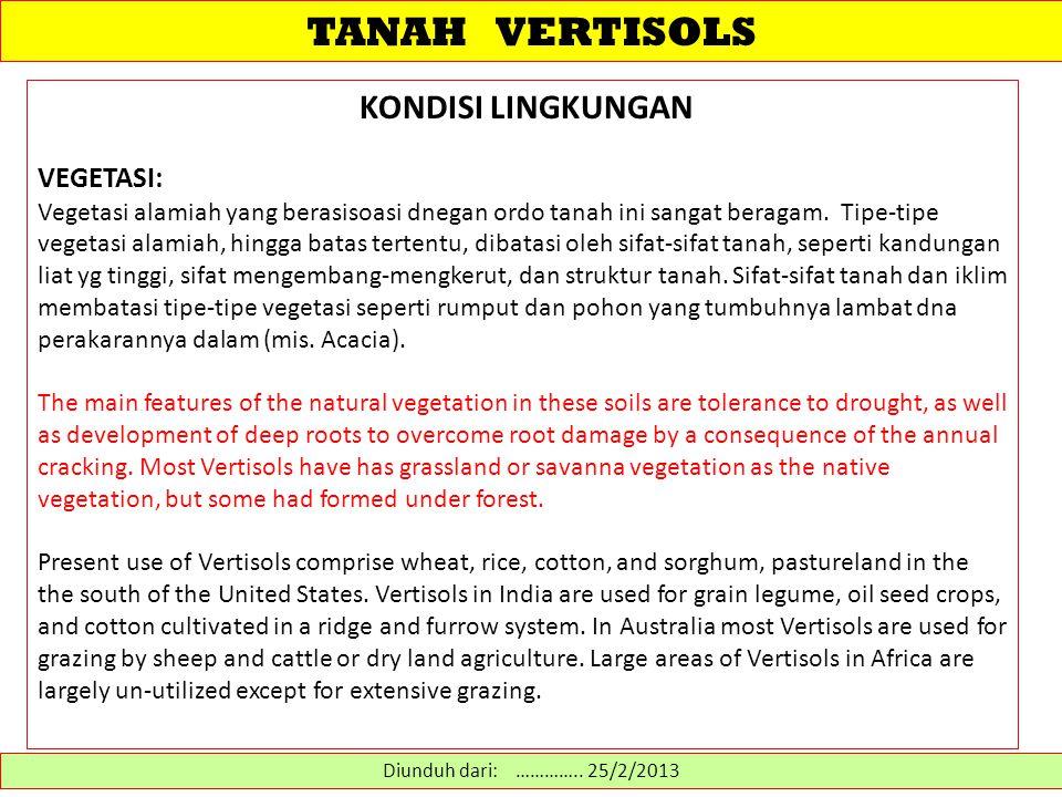 TANAH VERTISOLS MODEL PEDOGENIK PEMBENTUKAN VERTISOLS (II).