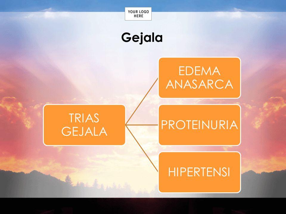 Gejala TRIAS GEJALA EDEMA ANASARCA PROTEINURIAHIPERTENSI