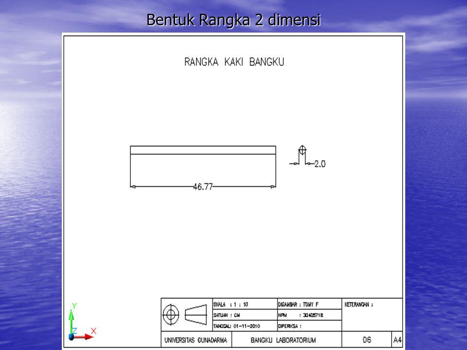 Bentuk Rangka 2 dimensi