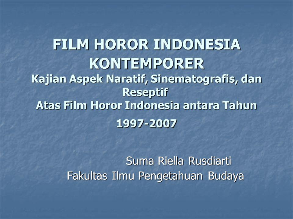 Ruang Lingkup Penelitian Penelitian ini akan membahas film-film horor Indonesia yang diproduksi antara tahun 1997 sampai 2007.