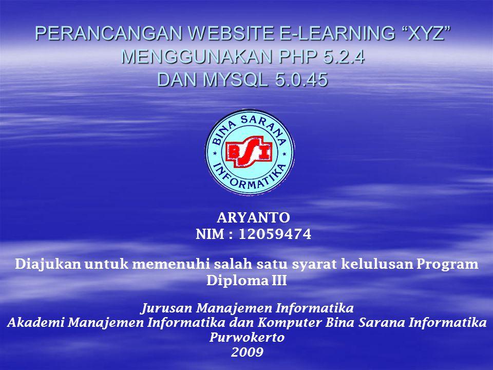 Perancangan tampilan website dibuat agar pemakai dapat berinteraksi secara langsung dengan komputer.