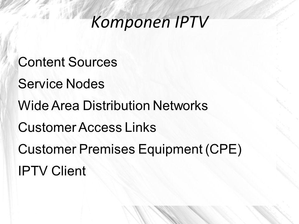 Media Distribution and Delivery Stream konten layanan IPTV dikirim ke subscriber disertai dengan fungsi-fungsi pengendalian, distribusi, penyimpanan dan Streaming.