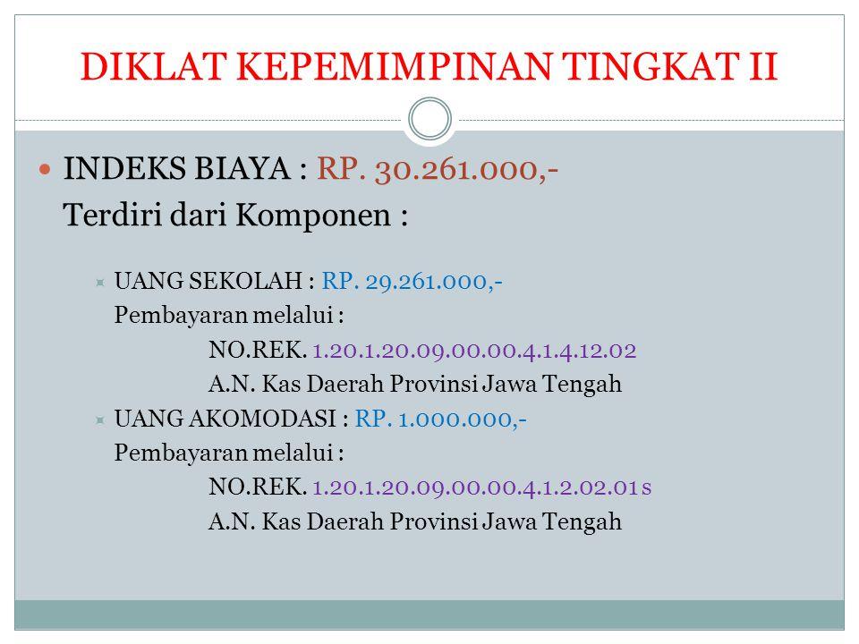 DIKLAT KEPEMIMPINAN TINGKAT III INDEKS BIAYA : RP.