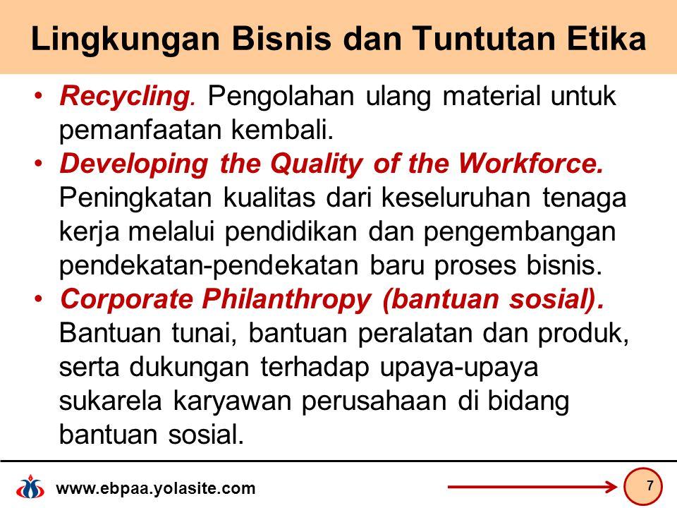 www.ebpaa.yolasite.com Lingkungan Bisnis dan Tuntutan Etika Recycling.