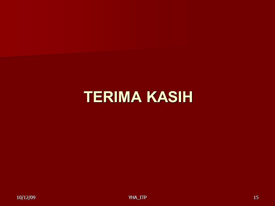 TERIMA KASIH YHA_ITP1510/12/09